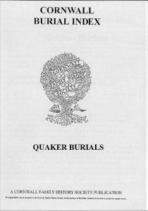 Quaker Burials
