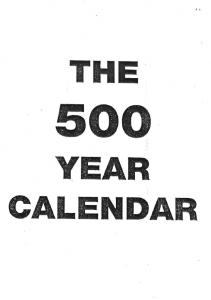 500 Year Calendar
